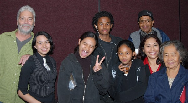 """Sugar Water"" director Billiemarie Robinson and friends from Cleveland High."