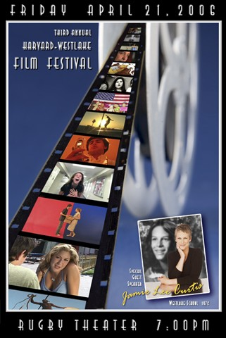 2006 festival poster designed by Kevin O'Malley featuring Jamile Lee Curtis' '76 Westlake school picture.