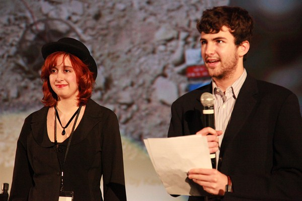 Festival directors Romina D'Alessandro and Jake Gutman.
