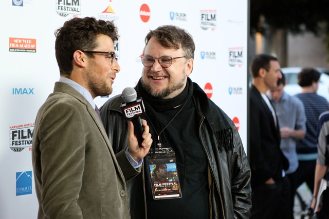 Jacob Soboroff interviews guest speaker Guillermo del Toro.