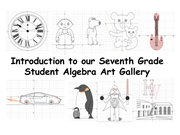 Click to view album: A Welcome and Introduction to our Algebra Art Gallery
