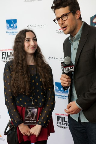 Amanda Reiter speaks to Jacob Soboroff on the red carpet about her film You and Me.