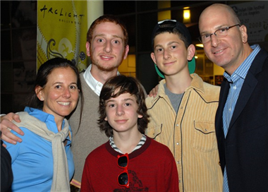 Festival director Drew Foster and family.