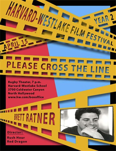 "2005 festival poster designed by Kevin O'Malley and inspired by Brett Ratner's ""Rush Hour"" poster."