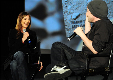 Guest speakers Kathryn Bigelow and Jason Reitman.
