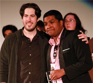 "Jason Reitman with ""Calamus"" director Jonathan Jayasinghe."