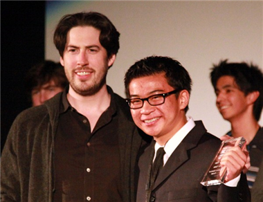 "Jason Reiman with ""Two Weeks"" director Brian Tran."